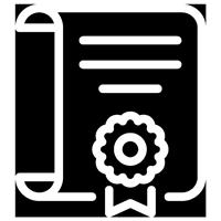 Icono de un Certificado